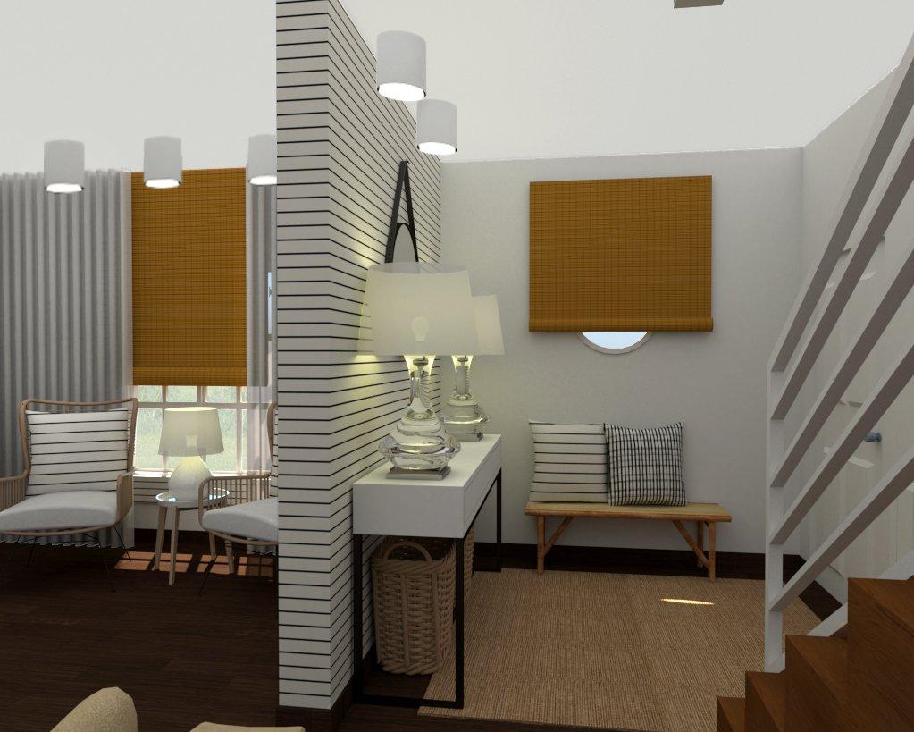 Projeto Novo: Prosposta 3D para Hall e Sala.